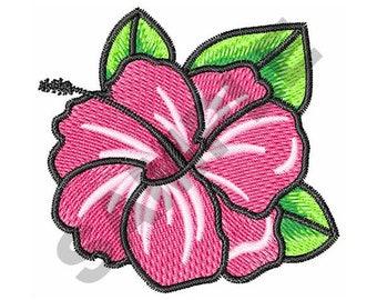 Hibiscus - Machine Embroidery Design