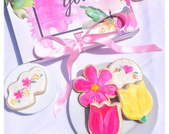 Bouquet of Hand-painted Cookies - Wedding Favors, Bridal Showers, Garden Parties, & Sweet Thank You Gifts <3