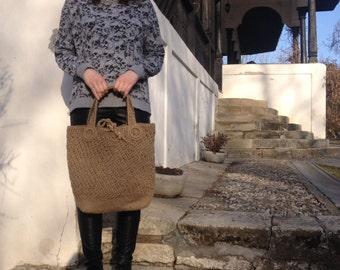 Handmade Crochet Organic Hemp Summer Bag