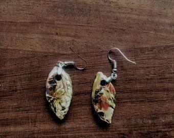 Handmade ceramic earrings ons of a kind unique dutch design