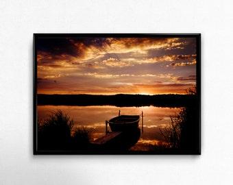 silent boat, Photoprint, Art, Printart - Poster, Acrylic, PVC foamboard, canvas print