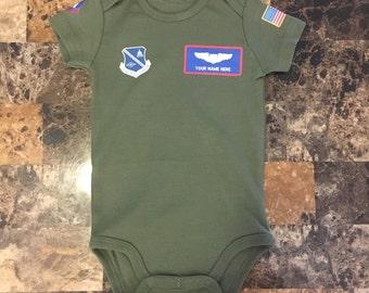 Custom Flight Suit Baby Onesie