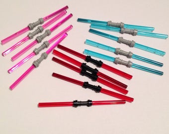 5x DOUBLE Lightsabers - Star Wars Minifigure Weapon - 5x Total Your Choice of Colors | For Darth Maul