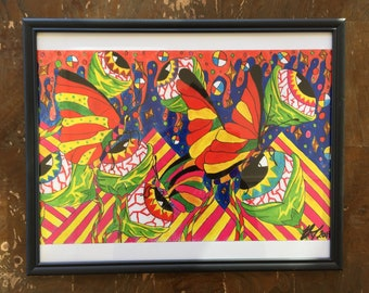 Psychedelic Framed Print Art Poster Home Decor