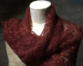 Gorgeous Orenburg style cobweb scarf/shawl