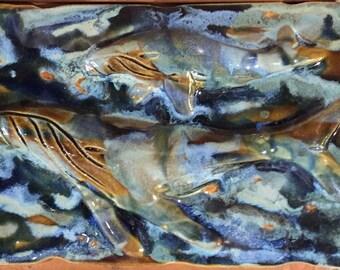 Whale - Ceramic Tile 10x7