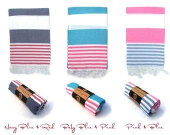 ANCHOR 100% Turkish Cotton Pestemal Bath-Gym-Beach Towel