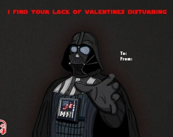 Darth Vader Star Wars Valentine Card