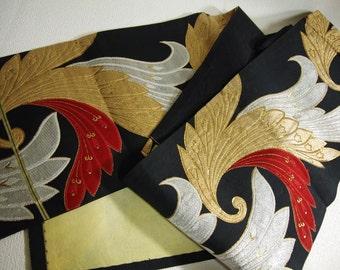 Japanese.Obi.Vintage. kimono.free shipping.gold.Silver.red.Black.