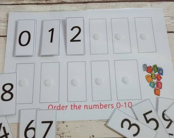 Ordering numbers activity, numeracy activity, number recognition, numbers 0-10, 10-20 early years numeracy resource, learn to order numbers