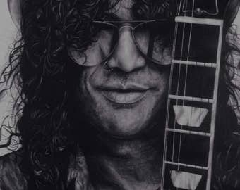 Slash Ballpoint Pen Drawing Print