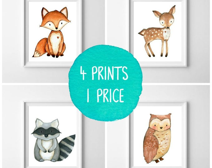 Nursery Decor, Nursery Wall Art, Woodland Nursery, Baby Shower Gift, Nursery Art, Woodland Animals, Instant Download, Wall Art, Woodland