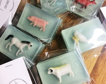 Farm Animal Soap - Childrens Soap, Toy Soap, Party Favours, Wedding Favours, Farm Animal, Birthday Gift, Perfect Gift, Stocking Filler