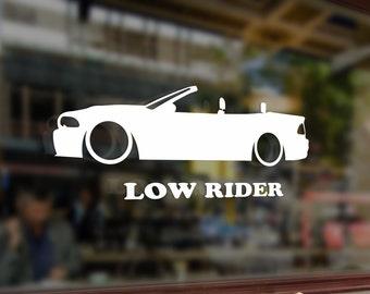 Low rider car Vinyl Stickers Funny Decals Bumper Car Auto Computer Laptop Wall Window Glass Skateboard Snowboard Helmet