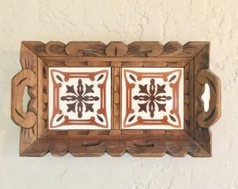 Vintage hot plate holder / Wall decor