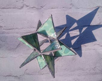 Stained Glass Star - Moravian Star - 3D Star - Ornament - Decoration - Home Decor - Gift for Her - Gift for Him