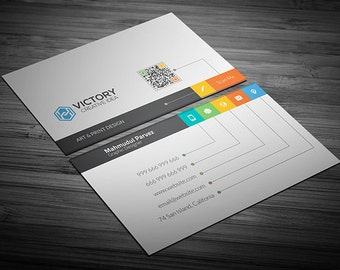 Business card template, Personalized Business Card, Digital Business Card