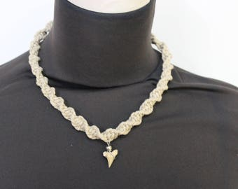Shark Tooth Necklace - Shark Tooth - Mens Jewelry - Womens Jewelry - Surfer Necklace