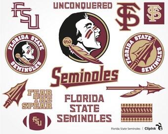 Florida State Seminoles svg, Seminoles clipart, Florida State svg, FSU digital – svg, eps, png, dxf, pdf. Decor Cut Print Mug Shirt Decal.