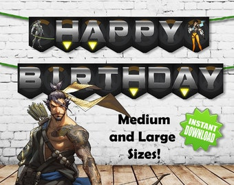 Overwatch Happy Birthday Banners