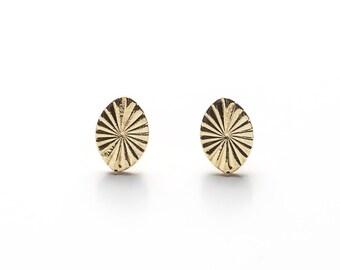 Boucles d'oreilles Les Minaudières en laiton doré à l'or 24 carats