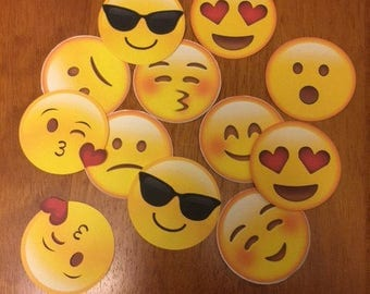 Emoji Toppers Mixed Set of 12