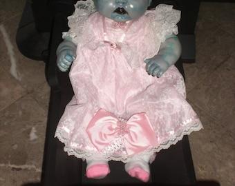 OOAK Horror  Zombie Living / Walking dead baby doll.
