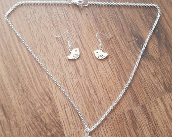 Silver Plated Chick Jewellery Set
