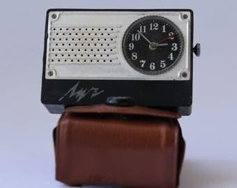 Rare Soviet pocket clock Luch, Vintage alarm clock Luch, travel alarm clock, Pocket alarm clock, pocket clock, small clock 70-80s