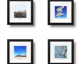Los Angeles Prints, Set of 4 Wall Art