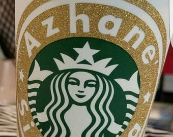 Customized Starbucks Reusable Travel Coffee Cups