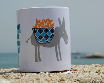 Ceramic Mug Greek Donkey