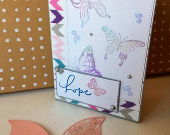Greeting card-  craft- handmade- 'Hope'