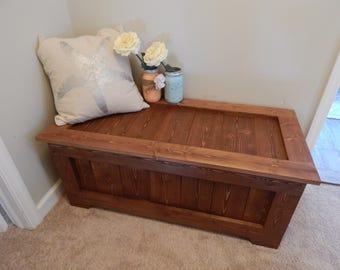 Custom Rustic Wooden Blanket Chest