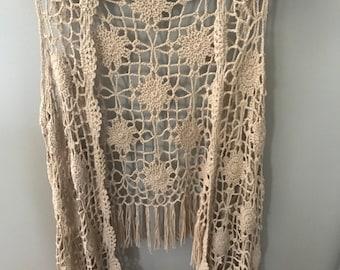 Taupe Crochet cardigan