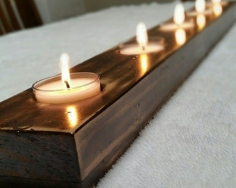 Handmade reclaimed large candle holder