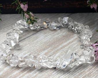 CLEAR QUARTZ Crystal Bracelet.