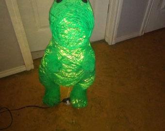 Handmade T-Rex Dino Yarn Lamp - 3 Feet Tall