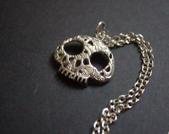 Day of the dead candy skull necklace
