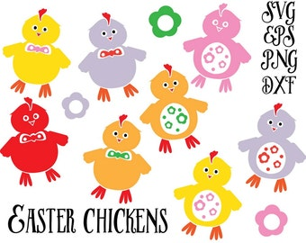 Easter svg,Easter Chicken Svg, Svg files for silhouette cameo, cricut explore,  Silhouette Cut Files, Cricut Cut Files, Svg Files, PNG, DXF