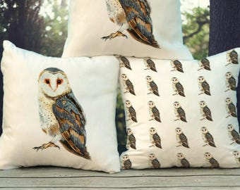 Barn Owl Cushion (fibre filled)