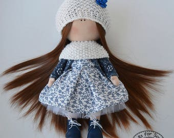 Marie Doll Textile Doll Handmade doll Baby doll Collectable doll Decor doll Art doll