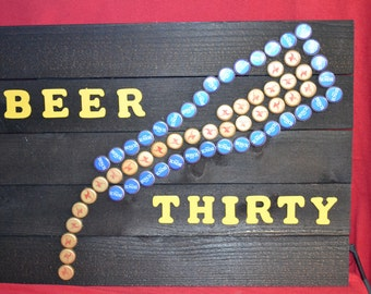 Beer Thirty Bottle Cap Sign