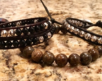 Handmade Men's Bracelet Trio