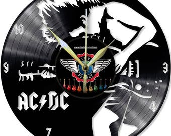 Vinyl Record Wall Clock AC/DC - Angus Young