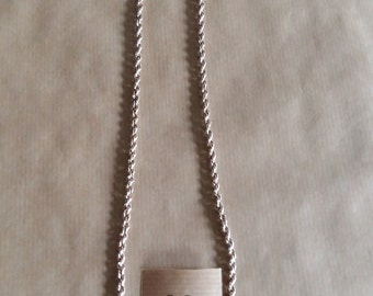 twisted silver link chain, 60 cm long
