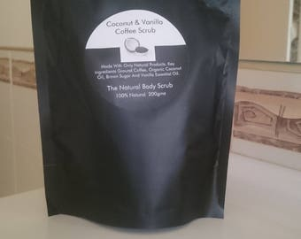 Coconut & Vanilla Coffee Scrub
