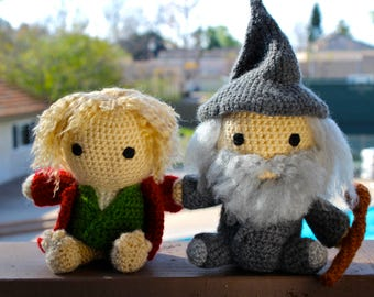Lord of the Rings Crochet, The Hobbit Crochet, Bilbo/Gandalf Plushies