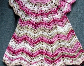 crochet dress, baby dress, 68-80