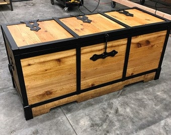 Chest/Trunk/Wood and Iron Chest/Box/Storage/Furniture